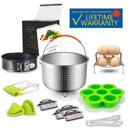 Accessories Set Compatible with Instant Pot 6,8 Qt 13 Pcs – Steamer Basket, Exclusive divi ...