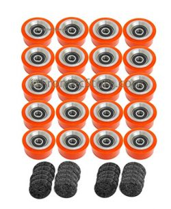 20 x Orange Dryer Support Roller for Alliance IPSO Huebsch SQ 70568201 70298701