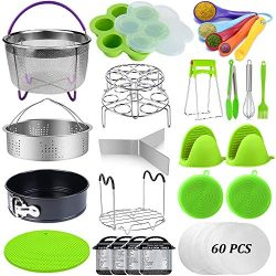 23 Pcs Pressure Cooker Accessories Set Compatible with Instant Pot Accessories 6 Qt 8 Quart, 2 S ...