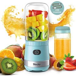 Portable Mini Blender, Personal Blender USB Rechargeable for Smoothies and Shakes with 2 Tritan  ...