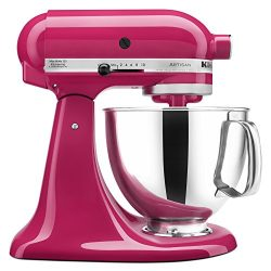 KitchenAid KSM150PSCB Artisan Series 5-Qt. Stand Mixer with Pouring Shield – Cranberry