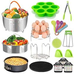 Pressure Cooker Accessories Set – Fit Instant Pot 6 qt 8 Quart, Include Steamer Basket, Sp ...
