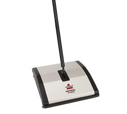 Bissell Natural Sweep Carpet and Floor Sweeper with Dual Rotating System and 2 Corner Edge Brush ...