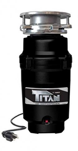 Titan T-560 Garbage Disposal, 1/2 HP – Economy, black