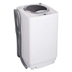 ZENSTYLE Full-Automatic Mini Multifunctional Washing Machine Portable Compact Design 8 LB Top Lo ...