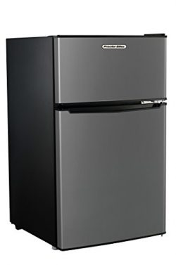 Proctor Silex Large Mini Fridge with Reversible Double Door Top Mounted Freezer, 3.1 Cubic Feet, ...