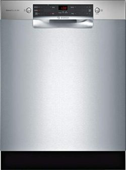 Bosch SGE53X55UC 300 Series 24 Inch Built In Full Console Dishwasher with 4 Wash Cycles, 14 Plac ...