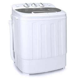 Best Choice Products Portable Compact Mini Twin Tub Laundry Washing Machine and Spin Cycle Dryer ...