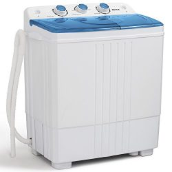 DELLA Small Compact Portable Washing Machine Top Load Laundry Washer with Spin & Dryer, 11lb ...