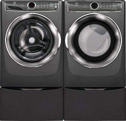 Electrolux Titanium Front Load Laundry Pair with EFLS627UTT 27″ Washer, EFME627UTT 27̸ ...