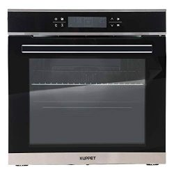 KUPPET 24″ Electric Single Wall Oven with 10 Functions, Tempered Glass, Digital Display, T ...