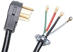Certified Appliance Accessories 4-Wire Closed-Eyelet 40-Amp Range Cord, 5ft