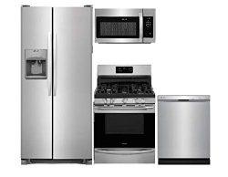 Frigidaire 4 Piece Stainless Steel Kitchen Package FFSS2615TS 36″Freestanding Refrigerator ...