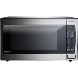 Panasonic 2.2 Cu. Ft. 1250W Genius Sensor Countertop/Built-in Microwave Oven with Inverter Techn ...