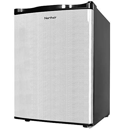 Northair Upright Freezer with 2.1 Cubic Feet Capacity, Compact Reversible Single Door Table Top  ...