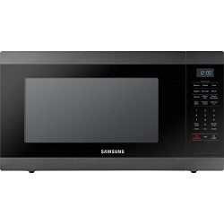 Samsung MS19M8020TG 1.9 Cu. Ft. Black Stainless Countertop Microwave for Built-In Application MS ...