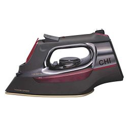 CHI Steam Iron with Retractable Cord, Titanium Infused Ceramic Soleplate & Over 400 Steam Ho ...