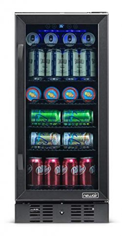NewAir Beverage Refrigerator Built in Cooler with 96 Can Capacity Soda Beer Fridge, NBC096BS00,  ...