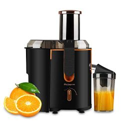 Juicer Extractor Picberm Wide Mouth Juicer Machines, 3 Speed Centrifugal Juicer for Fruit and Ve ...