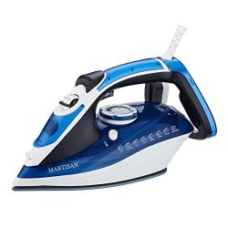 MARTISAN HL-8001 Steam Iron, 1800W Super Hot Ceramic Soleplate Iron, Anti-Drip, Anti-Calc, Self- ...