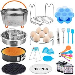20 Pcs Pressure Cooker Accessories Compatible with 5,6,8 Qt Instant Pot, Steamer Basket Kitchen  ...