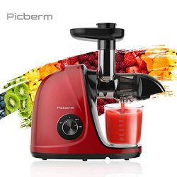 Juicer Machine, Picberm Slow Masticating Juicer for Nutrients Preservation, Easy to Clean, Quiet ...