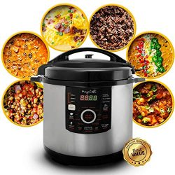Megachef 930110831M MCPR-3500 12 Quart Digital Pressure Cooker with 15 Presets, Silver