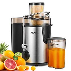 Juicer Aicok Centrifugal Juicer Machine Easy to Clean, 3 Speed Juicer Extractor Machine Wide 3&# ...