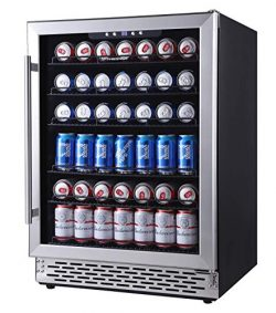 Phiestina 24 Inch Beverage Cooler Refrigerator – 175 Can Built-in or Free Standing Beverag ...