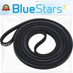 Ultra Durable 341241 Dryer Drum Belt Replacement Part by Blue Stars- Exact Fit for Whirlpool Ken ...