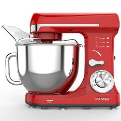 FIMEI Stand Mixer, Kitchen Mixer 550W, 6-Speed Dough Mixer Dough Maker, 5L Bowl with Anti-Oil Co ...