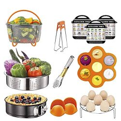 12 Pcs Instant Pot Accessories Set Compatible with 6 8 Qt, Pressure Cooker Accessories with Stea ...