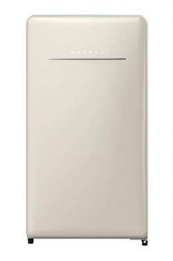 Daewoo FR-044RCNC Retro Compact Refrigerator, 4.4 Cu Ft, Cream Beige