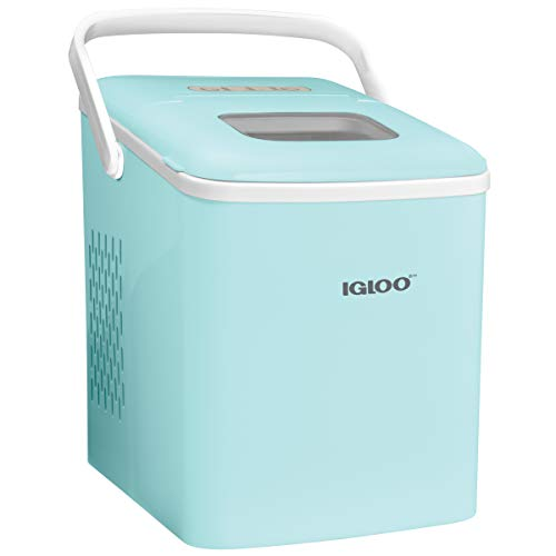 Igloo ICEB26HNAQ Automatic Self-Cleaning Portable Electric Countertop Ice Maker Machine With Han ...