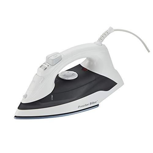 Proctor Silex Iron & Vertical Steamer for Clothes with DuraGlide Ceramic Nonstick Soleplate, ...