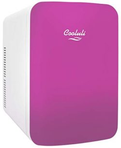 Cooluli Infinity Pink 15 Liter Compact Portable Cooler Warmer Mini Fridge for Bedroom, Office, D ...