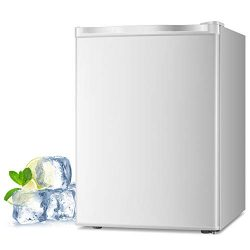 Joy Pebble Free Standing Upright Freezer with Removable Shelf, Adjustable Thermostat, Compact Re ...