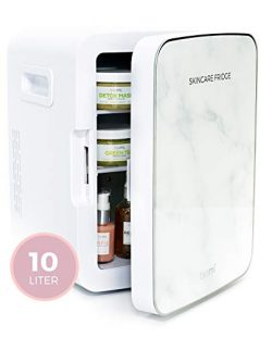Teami Mini Fridge for Skincare – 10 Liter Compact Mini Refrigerator – Perfect for Be ...