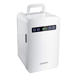 OMORC Tiny Fridge, 10L Mini Fridge Cooler& Warmer 10L Car Refrigerator with LED Display/Dual ...