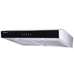 Range Hood 30 inch,Kitchenexus Stainless Steel Touch Screen Display Ducted/ductless Under Cabine ...