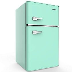 KUPPET Retro Mini Refrigerator 2-Door Compact Refrigerator for Dorm, Garage, Camper, Basement or ...