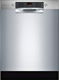Bosch SGE68X55UC 800 Series 24 Inch Built In Full Console Dishwasher with 6 Wash Cycles, in Stai ...