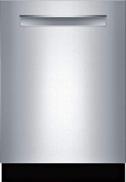 Bosch SHPM65Z55N 24″ 500 Series Pocket Handle Dishwasher with 16 Place Settings, 5 Wash Cy ...