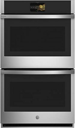 GE Profile PTD7000SNSS 30″ Smart Double Wall Oven with 10 cu. ft. Total Capacity True Euro ...