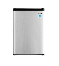 Danby DCR045B1BSLDB-3 4.5 cu. ft. Compact Refrigerator With True Freezer, Steel