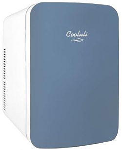 Cooluli Infinity Blue 15 Liter Compact Portable Cooler Warmer Mini Fridge for Bedroom, Office, D ...
