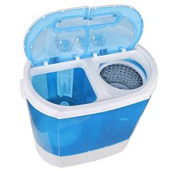 ZenStyle Compact Design Mini Twin Tub 9.9 LB Top Load Washing Machine Portable 2-in-1 Washer/Spi ...