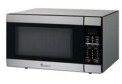 Magic Chef MCD1811ST 1.8 Cu. Ft. 1100W Countertop Microwave Oven in Stainless Steel, Silver