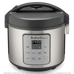Instant Zest Rice Cooker, Grain Maker, and Steamer|20 Cups|Cooks White Rice, Brown Rice, Quinoa, ...