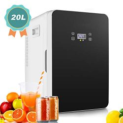 20L Mini Fridge, Large Capacity Compact Cooler and Warmer with Digital Thermostat Display and Co ...